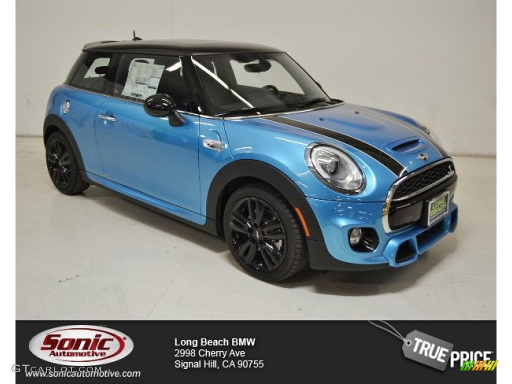 Electric Blue Metallic Mini Cooper