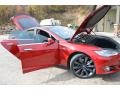 Red Tesla Multi-Coat - Model S P85 Performance Photo No. 7