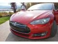 Red Tesla Multi-Coat - Model S P85 Performance Photo No. 9