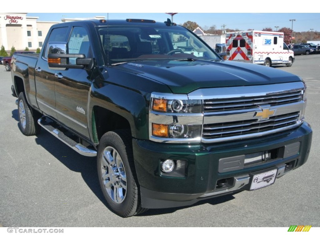 2015 rainforest green metallic chevrolet silverado 2500hd high country crew cab 4x4 99250819. Black Bedroom Furniture Sets. Home Design Ideas