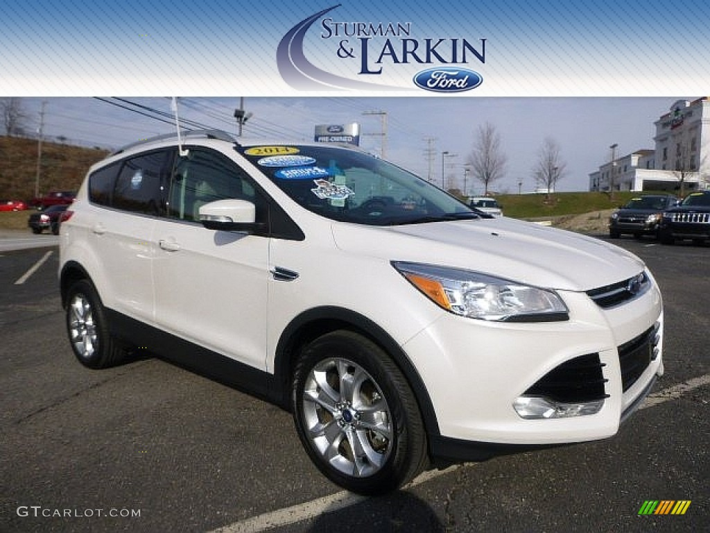 2014 Escape Titanium 2.0L EcoBoost 4WD - White Platinum / Medium Light Stone photo #1