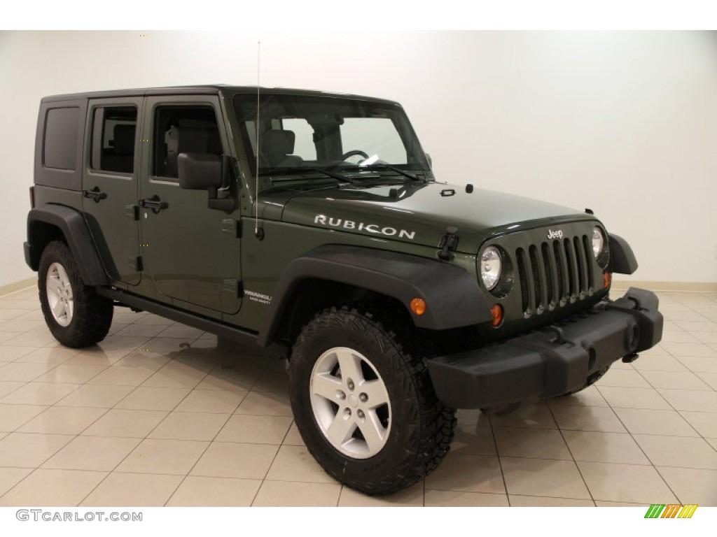 2009 Jeep Green Metallic Jeep Wrangler Unlimited Rubicon