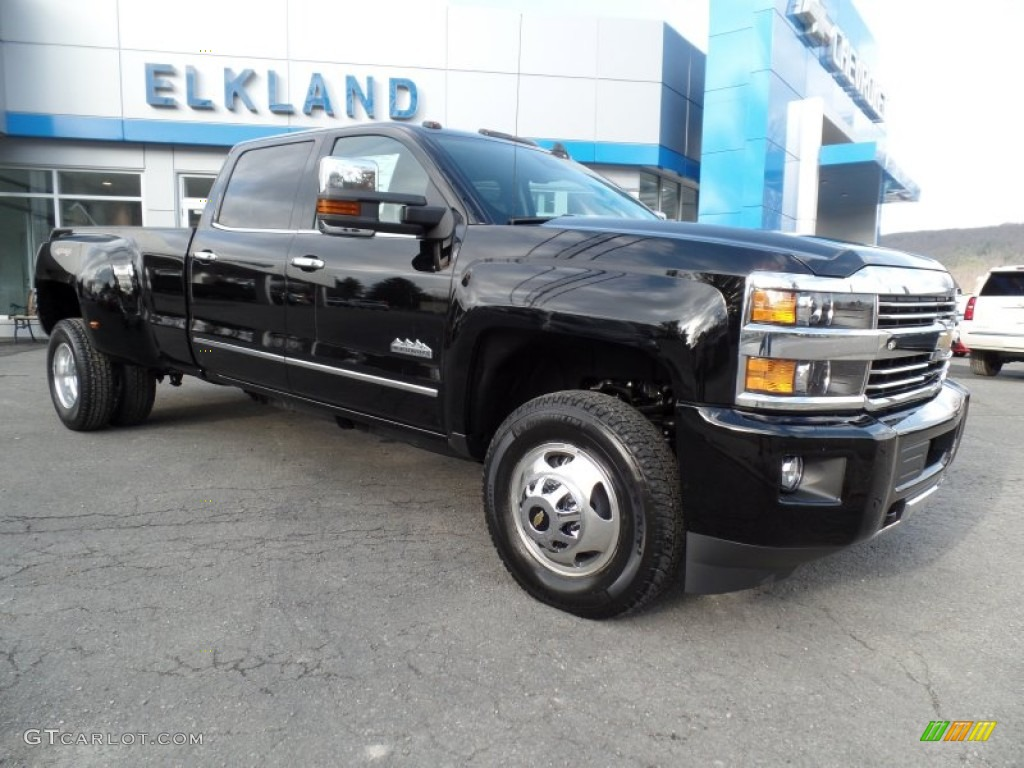 2015 Black Chevrolet Silverado 3500hd High Country Crew Cab Dual Rear Wheel 4x4 99288886