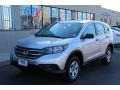 2014 Alabaster Silver Metallic Honda CR-V LX AWD  photo #1