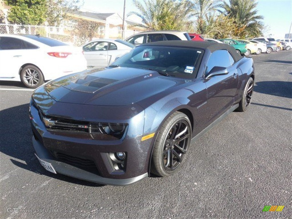 2013 blue ray metallic chevrolet camaro zl1 convertible. Black Bedroom Furniture Sets. Home Design Ideas