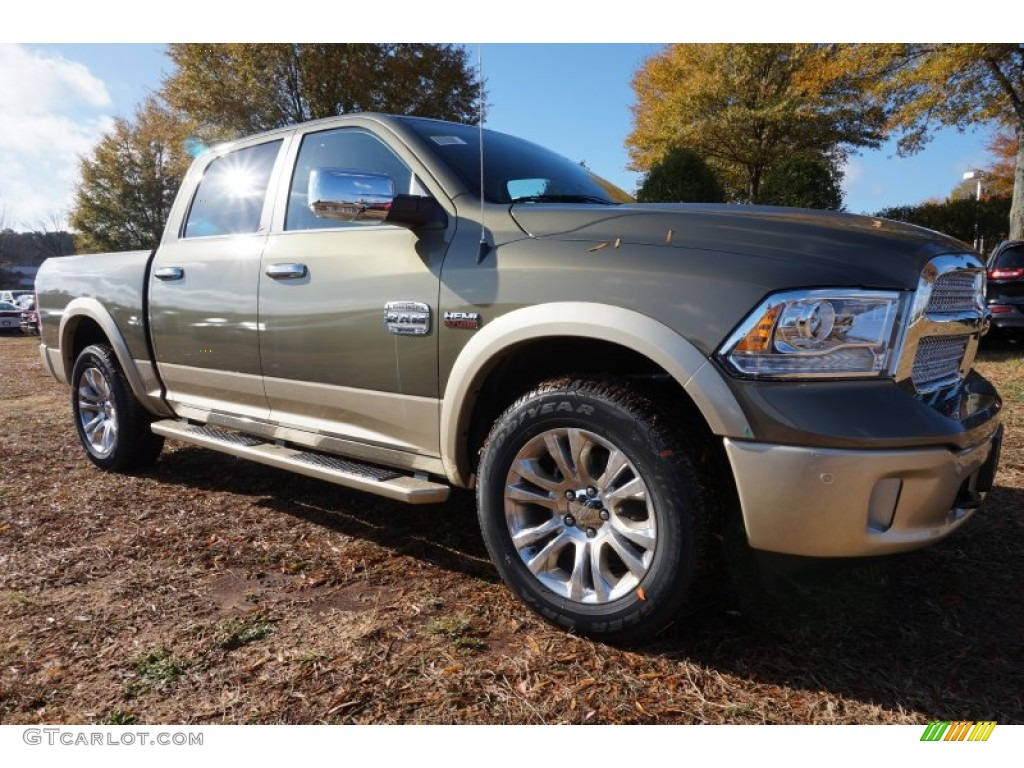 2015 1500 Laramie Long Horn Crew Cab - Prairie Pearl / Canyon Brown/Light Frost photo #4
