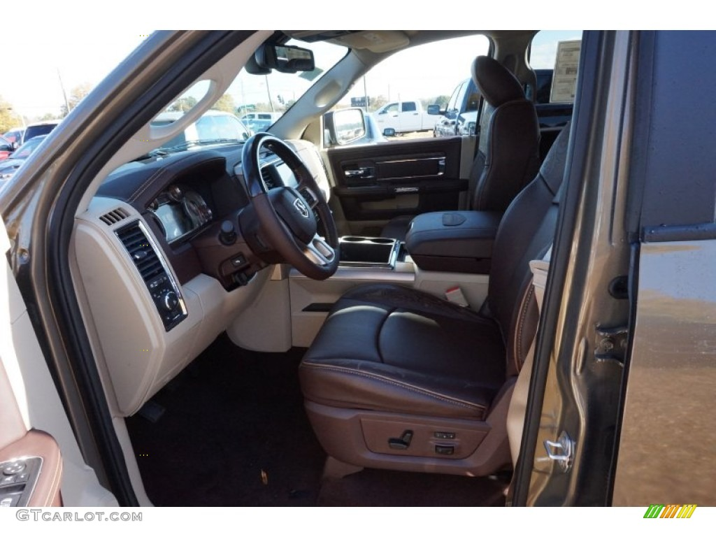 2015 1500 Laramie Long Horn Crew Cab - Prairie Pearl / Canyon Brown/Light Frost photo #7
