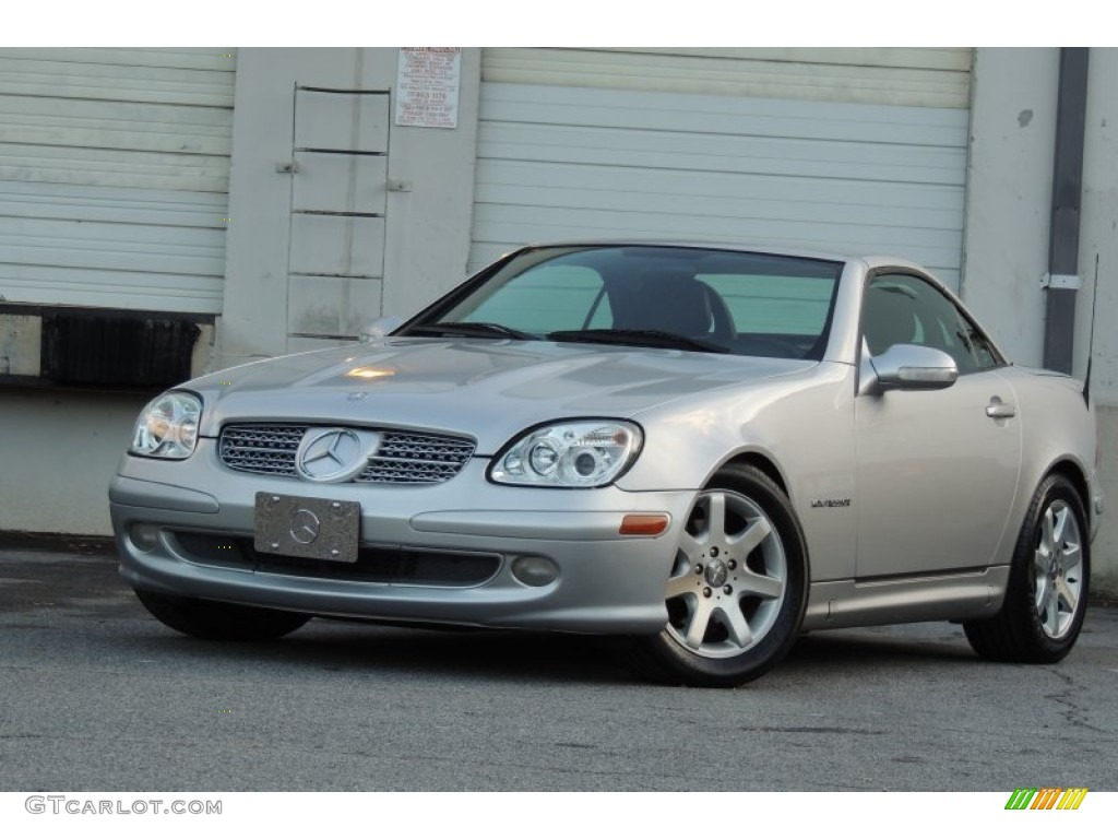 2001 SLK 230 Kompressor Roadster - Brilliant Silver Metallic / Charcoal Black photo #1