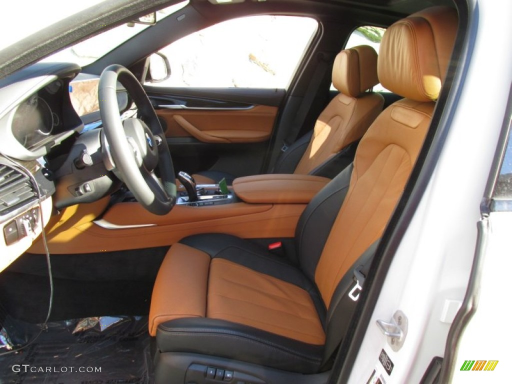 Cognac Black Bi Color Interior 2015 Bmw X6 Xdrive35i Photo