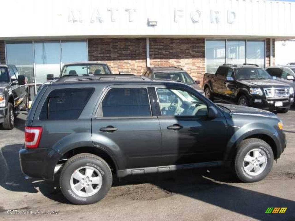 2009 Escape XLT V6 4WD - Black Pearl Slate Metallic / Stone photo #1
