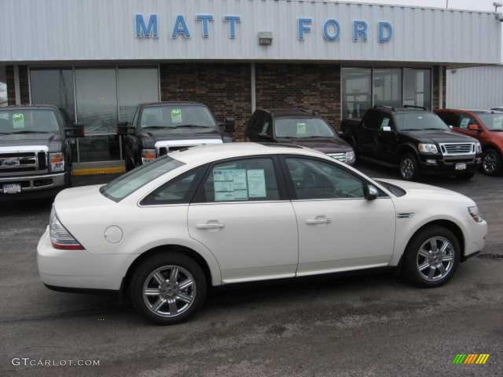 White sand tri coat metallic ford taurus