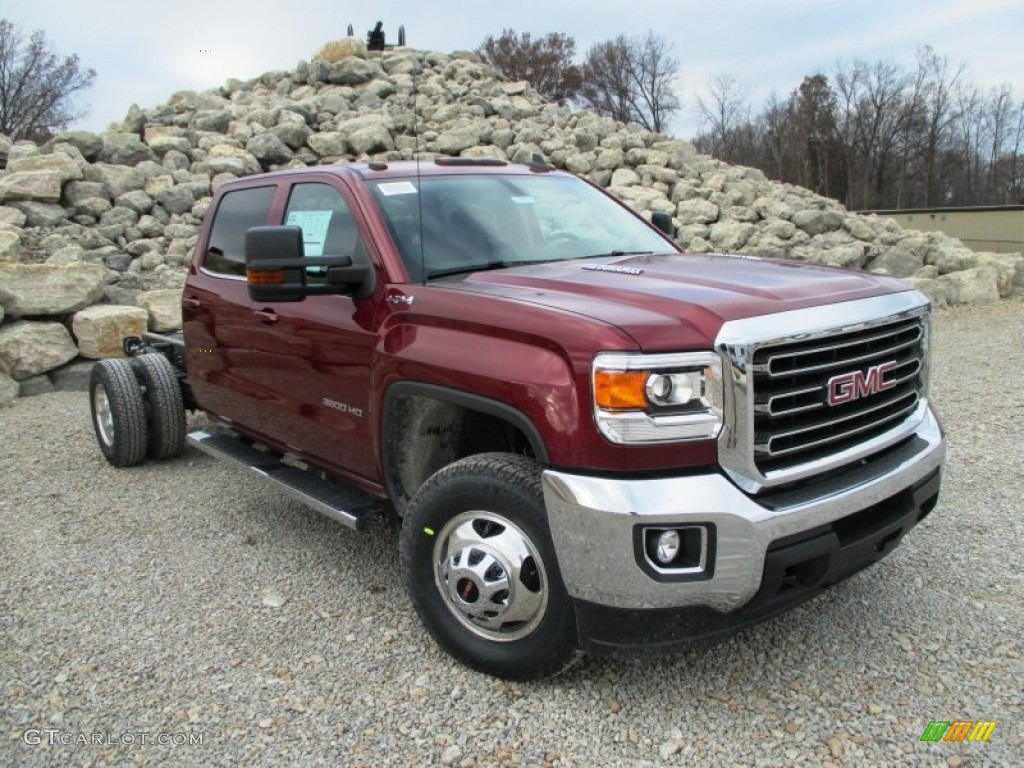 sonoma red metallic 2015 gmc sierra 3500hd sle crew cab. Black Bedroom Furniture Sets. Home Design Ideas