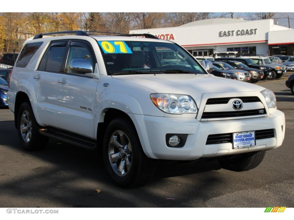 2007 natural white toyota 4runner limited 4x4 99530189. Black Bedroom Furniture Sets. Home Design Ideas