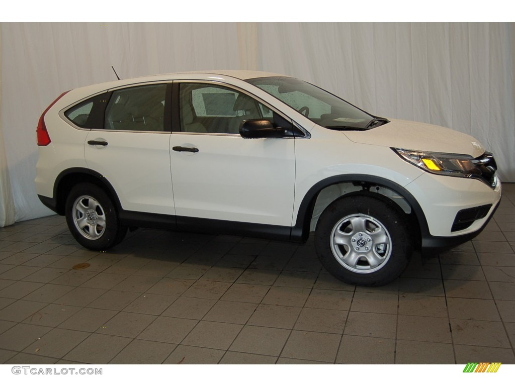 2015 CR-V LX - White Diamond Pearl / Beige photo #8