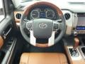 1794 Edition Premium Brown Leather Steering Wheel Photo for 2015 Toyota Tundra #99580147