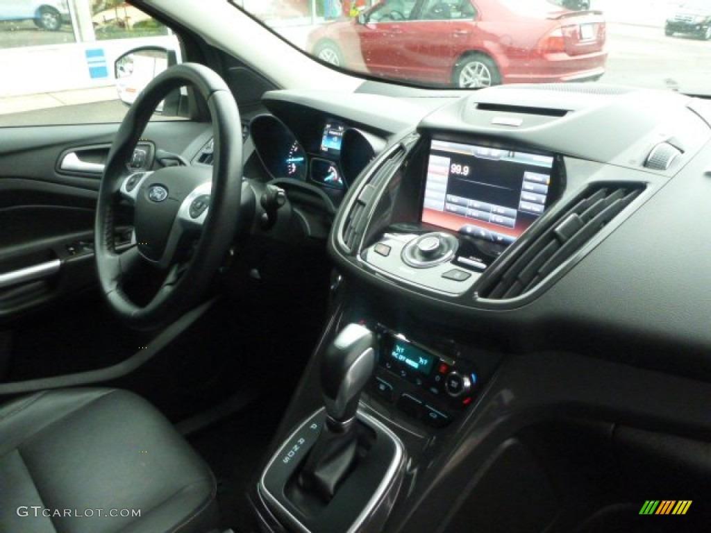 2014 Escape Titanium 2.0L EcoBoost 4WD - White Platinum / Charcoal Black photo #3