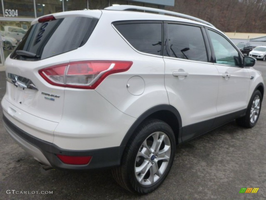 2014 Escape Titanium 2.0L EcoBoost 4WD - White Platinum / Charcoal Black photo #6