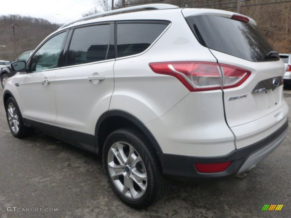 2014 Escape Titanium 2.0L EcoBoost 4WD - White Platinum / Charcoal Black photo #8