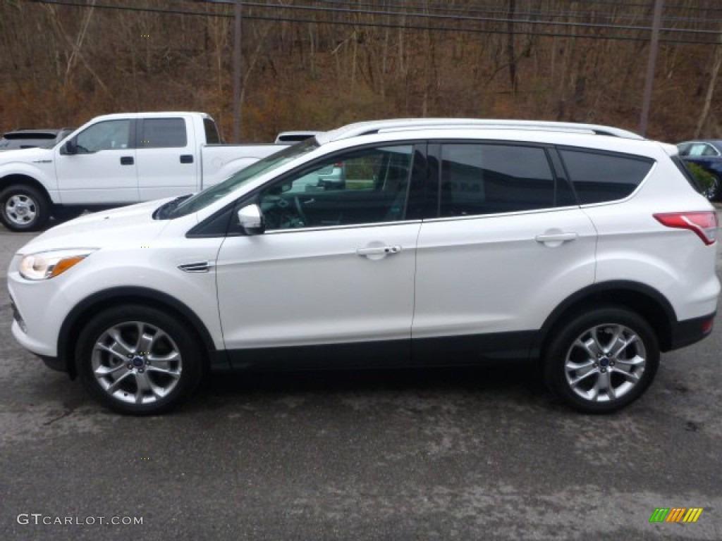 2014 Escape Titanium 2.0L EcoBoost 4WD - White Platinum / Charcoal Black photo #9