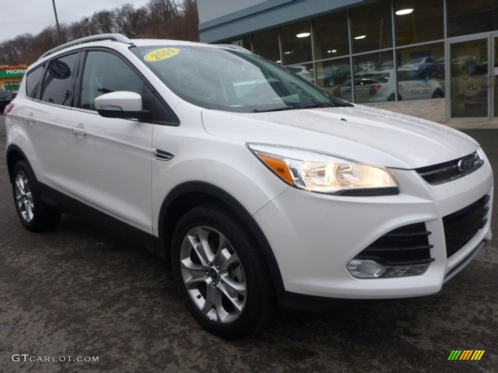 2014 Escape Titanium 2.0L EcoBoost 4WD - White Platinum / Charcoal Black photo #12