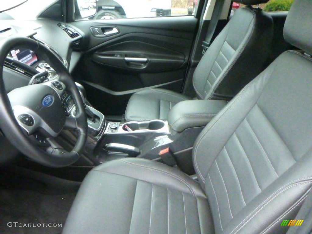 2014 Escape Titanium 2.0L EcoBoost 4WD - White Platinum / Charcoal Black photo #14