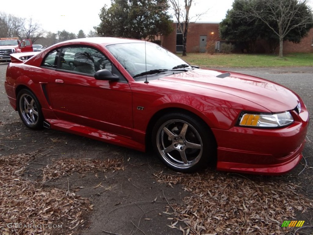 2000 Mustang GT Coupe - Laser Red Metallic / Medium Graphite photo #9
