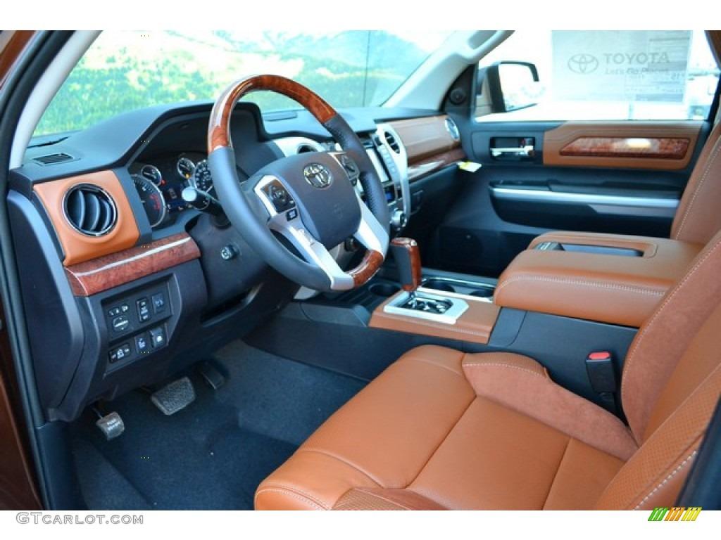 2015 sunset bronze mica toyota tundra 1794 edition crewmax for Toyota tundra leather interior