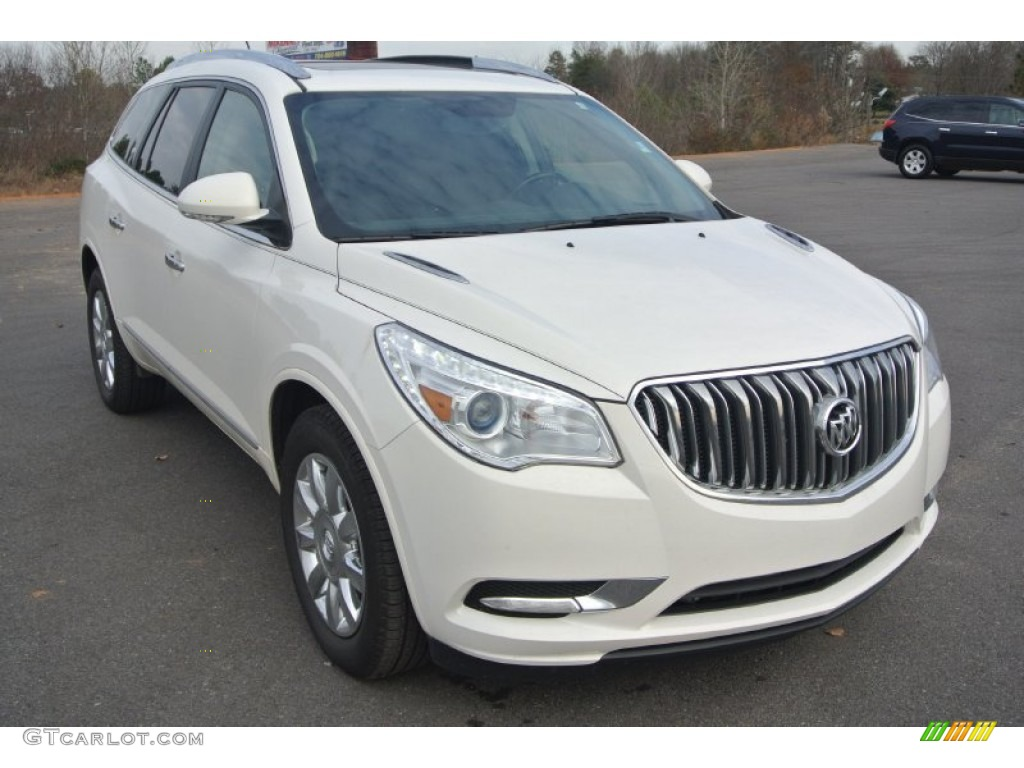 2014 white opal buick enclave leather awd 99632123. Black Bedroom Furniture Sets. Home Design Ideas