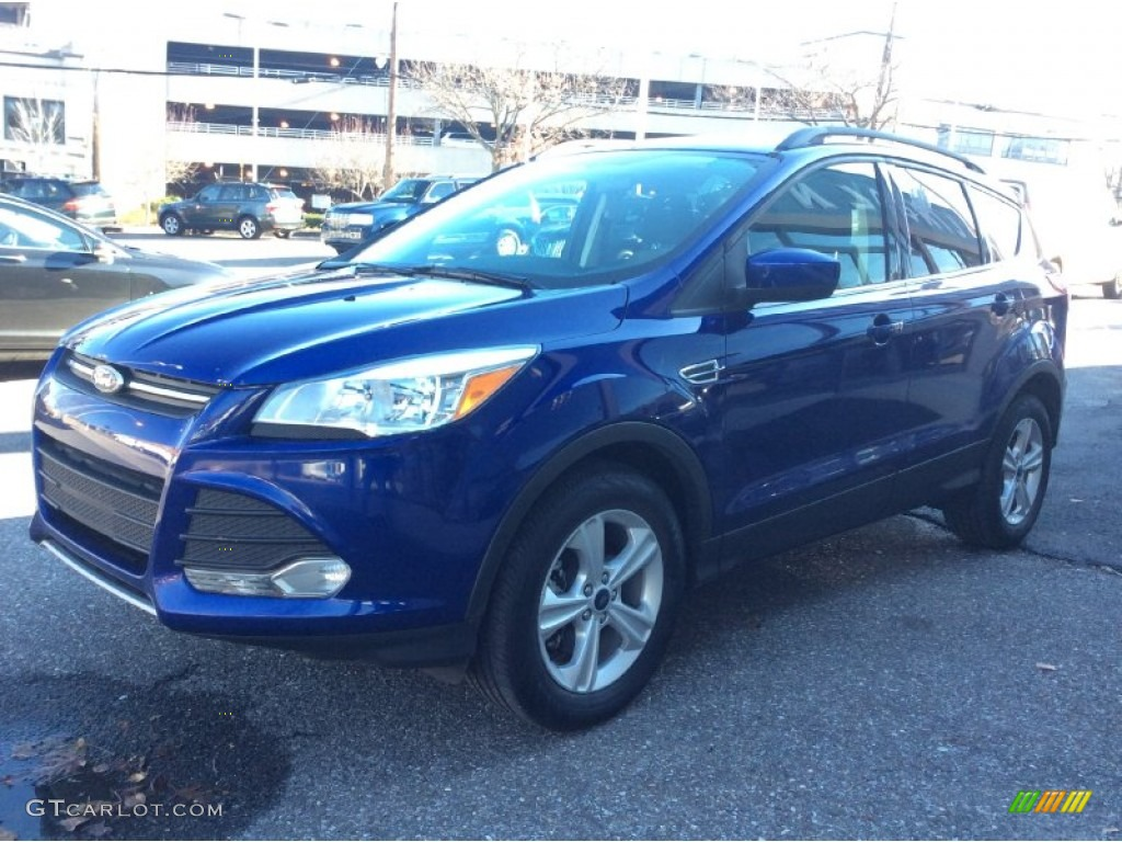2014 Escape SE 2.0L EcoBoost 4WD - Deep Impact Blue / Charcoal Black photo #1