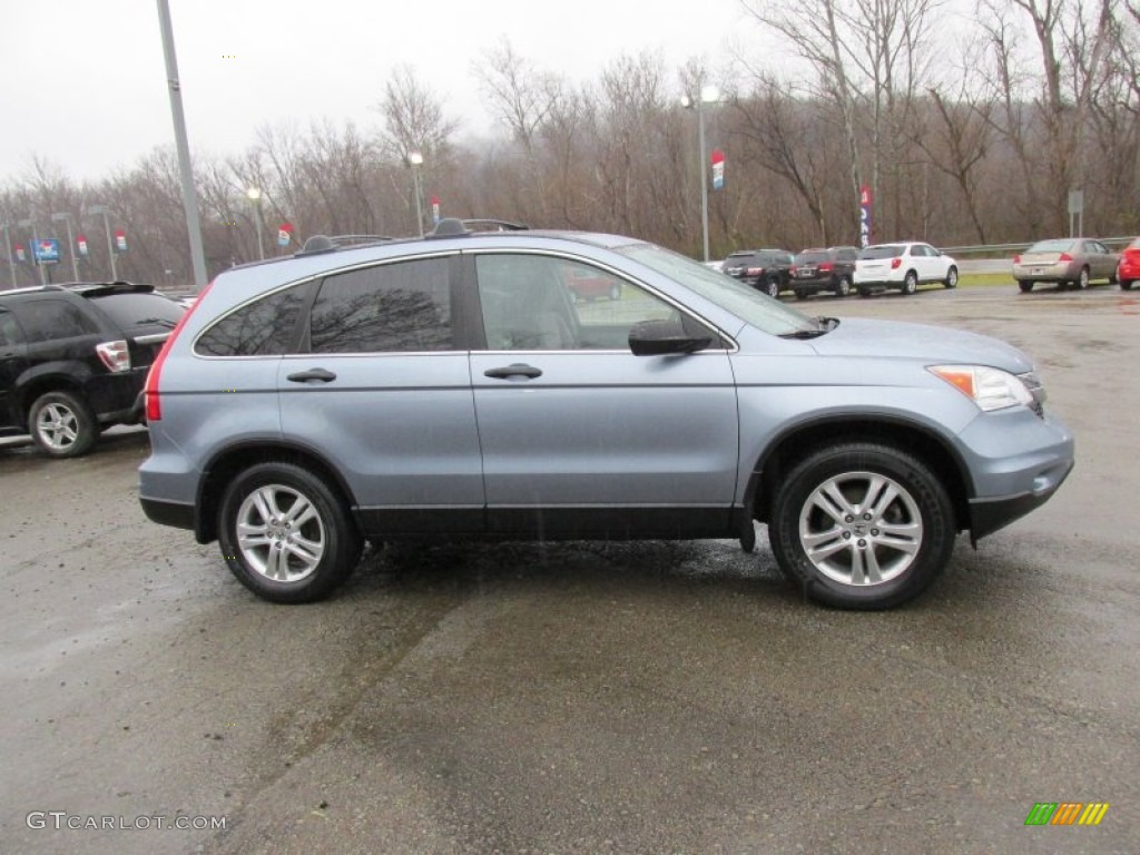 2011 CR-V EX 4WD - Glacier Blue Metallic / Gray photo #9