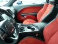 2015 Dodge Challenger Black/Ruby Red Interior Front Seat Photo