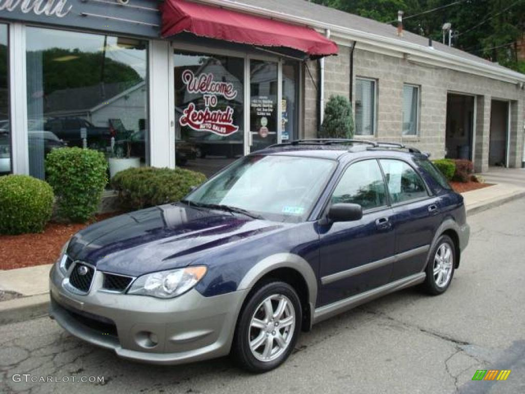 2006 regal blue pearl subaru impreza outback sport wagon. Black Bedroom Furniture Sets. Home Design Ideas