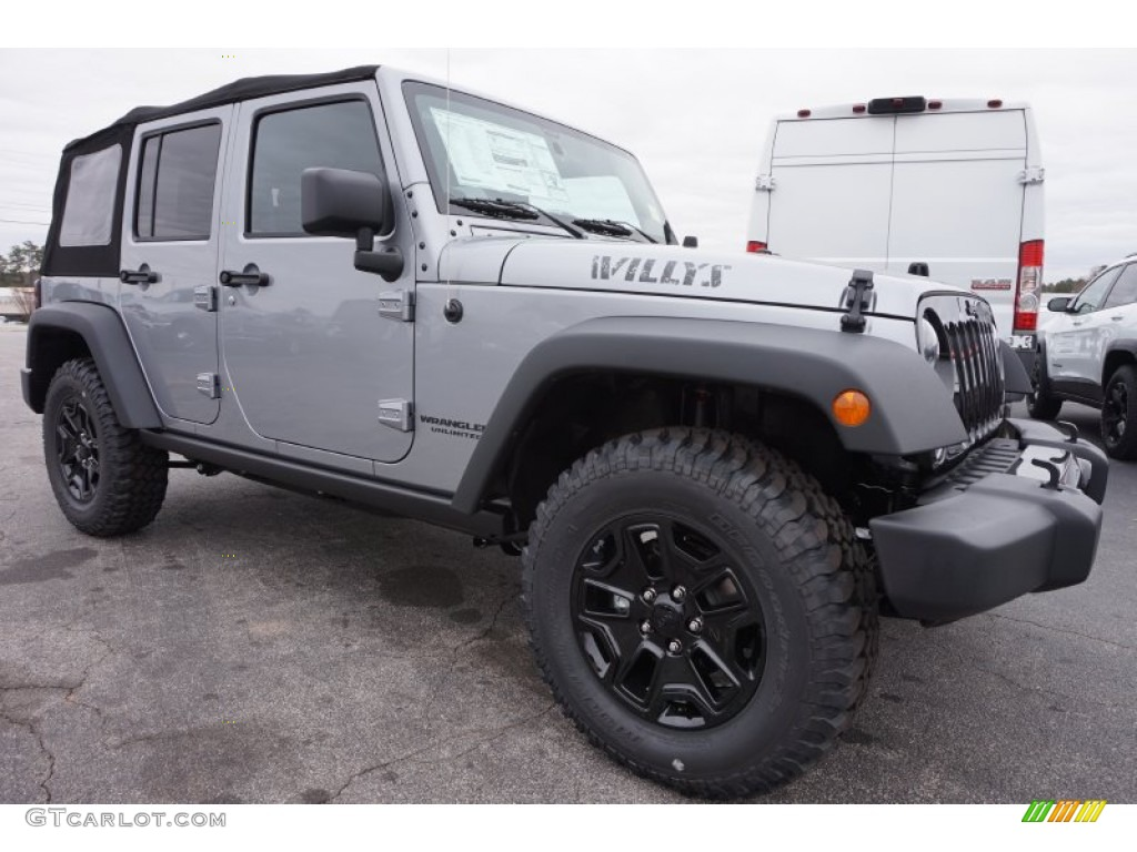 2015 wrangler unlimited willys wheeler 4x4 billet silver metallic black photo 4
