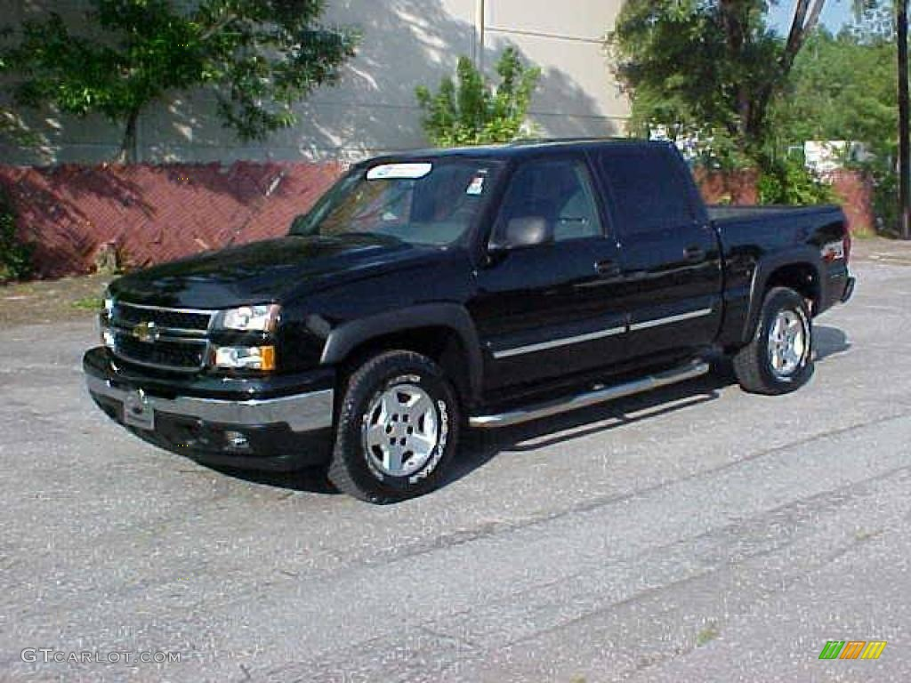 2006 black chevrolet silverado 1500 z71 crew cab 4x4 9971990 car color galleries. Black Bedroom Furniture Sets. Home Design Ideas