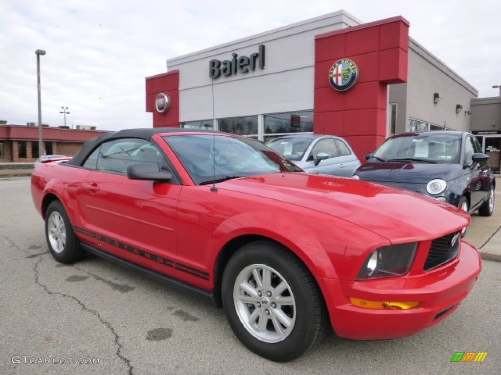 2007 Mustang V6 Premium Convertible - Torch Red / Light Graphite photo #1