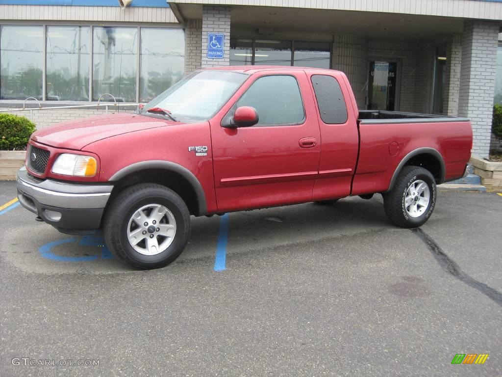 2002 f150 xlt supercab 4x4 toreador red metallic dark graphite photo 1