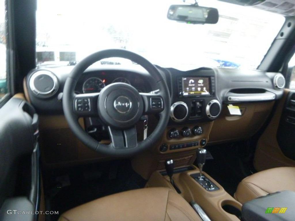 Black Dark Saddle Interior 2015 Jeep Wrangler Unlimited Sahara 4x4 Photo 99822251