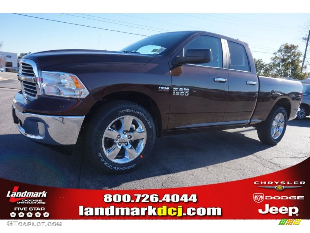 2015 1500 Big Horn Quad Cab - Western Brown / Canyon Brown/Light Frost photo #1