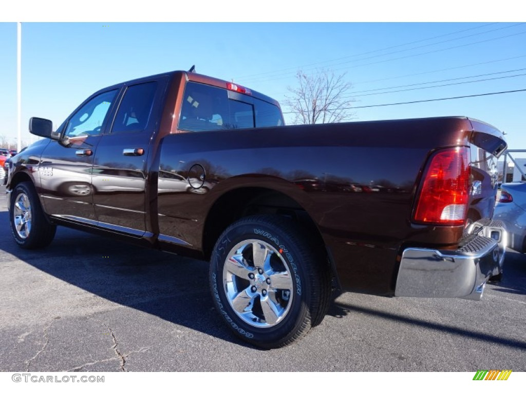 2015 1500 Big Horn Quad Cab - Western Brown / Canyon Brown/Light Frost photo #2