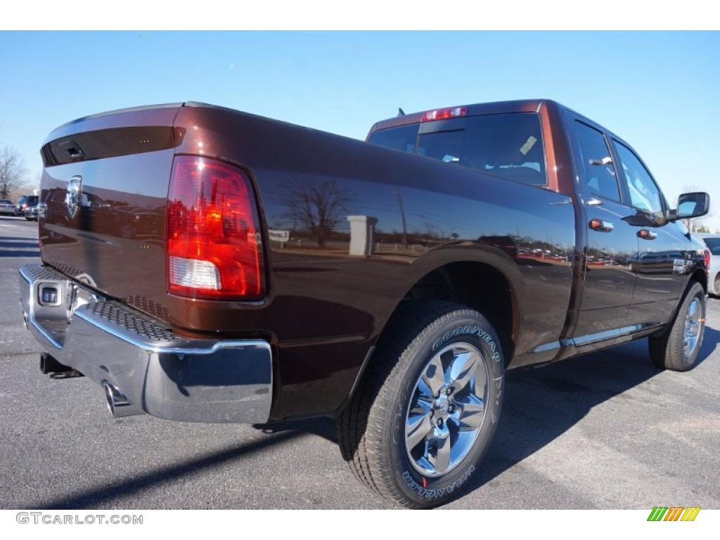 2015 1500 Big Horn Quad Cab - Western Brown / Canyon Brown/Light Frost photo #3