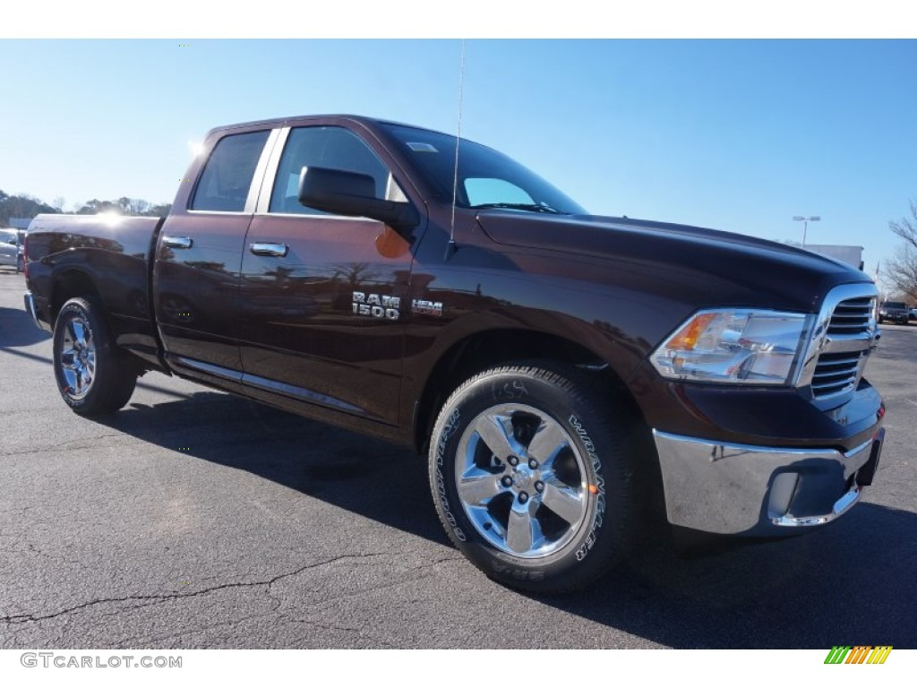 2015 1500 Big Horn Quad Cab - Western Brown / Canyon Brown/Light Frost photo #4
