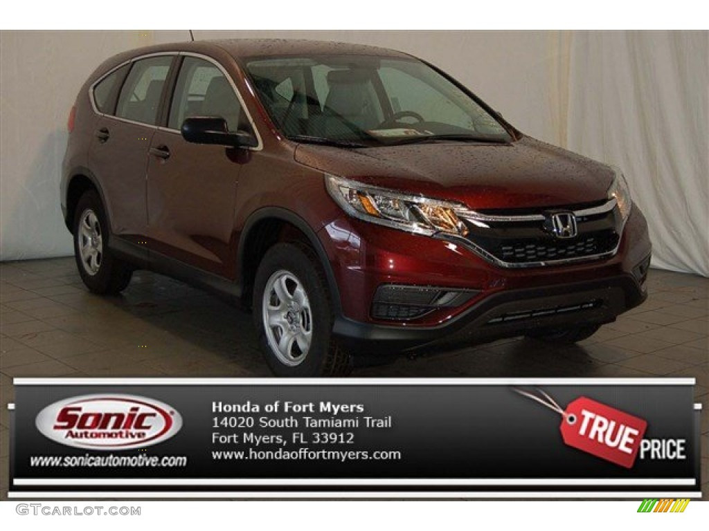 2015 CR-V LX - Basque Red Pearl II / Gray photo #1