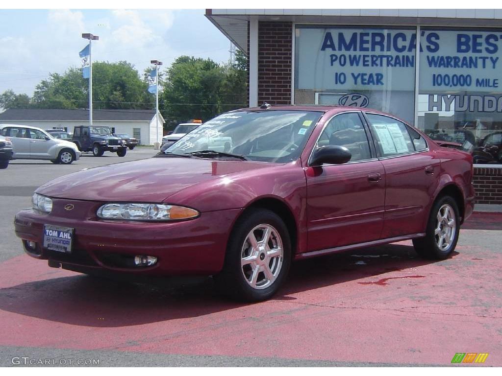 2004 sport red oldsmobile alero gls sedan 9962676. Black Bedroom Furniture Sets. Home Design Ideas