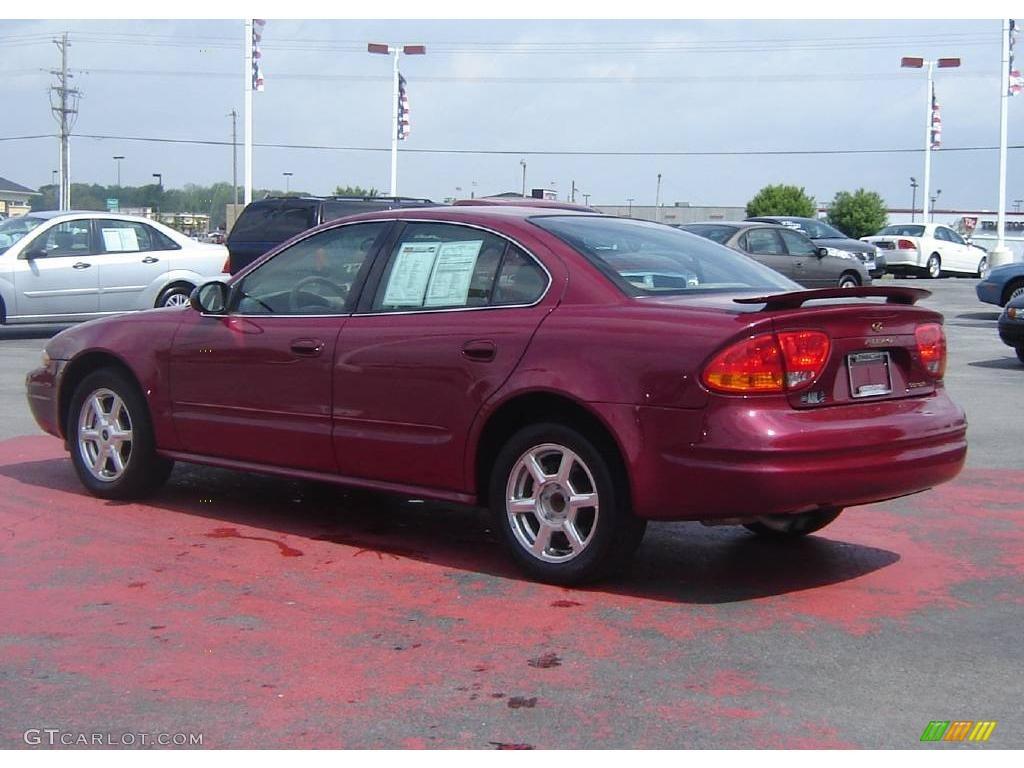 2004 sport red oldsmobile alero gls sedan 9962676 photo. Black Bedroom Furniture Sets. Home Design Ideas