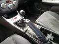 2009 Subaru Impreza Graphite Gray Alcantara/Carbon Black Leather Interior Transmission Photo