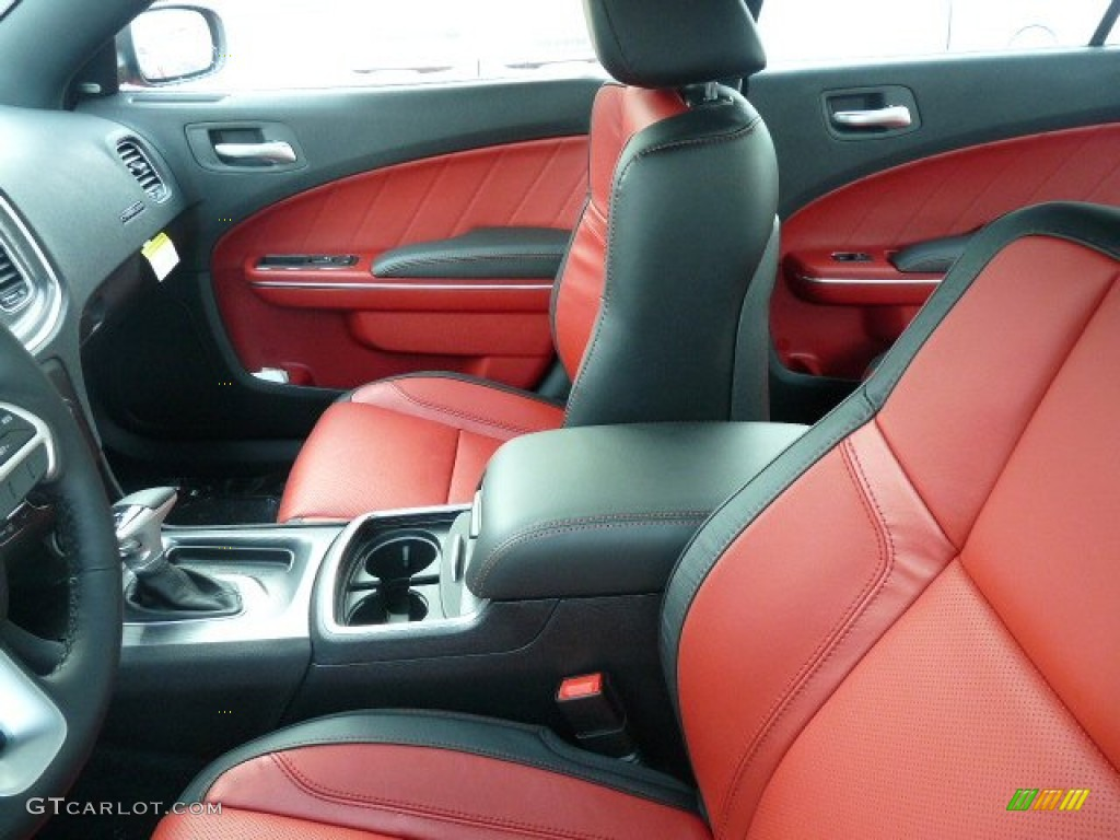 Black Ruby Red Interior 2015 Dodge Charger R T Photo 99985536