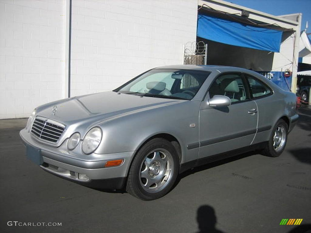 1998 clk 320 coupe brilliant silver metallic ash grey photo 1