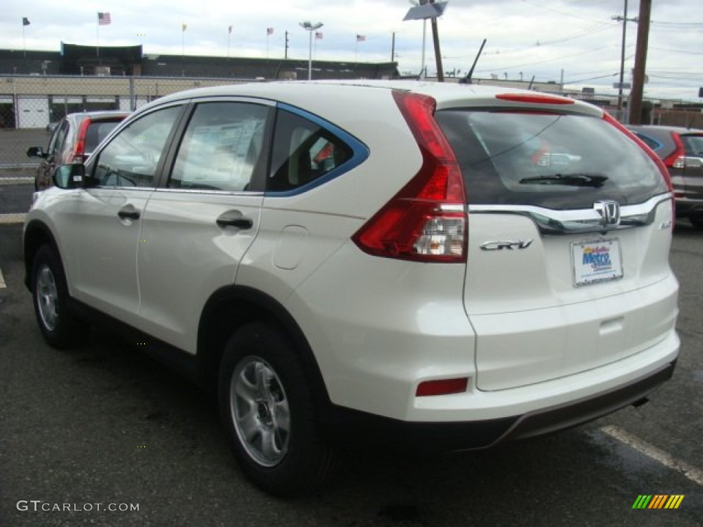 2015 CR-V LX AWD - White Diamond Pearl / Beige photo #2