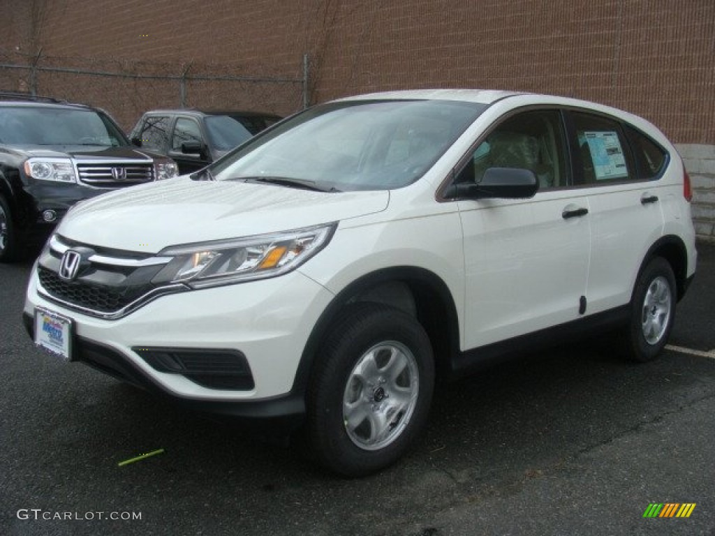 2015 CR-V LX AWD - White Diamond Pearl / Beige photo #1